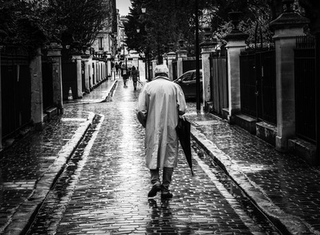 The man with the umbrella