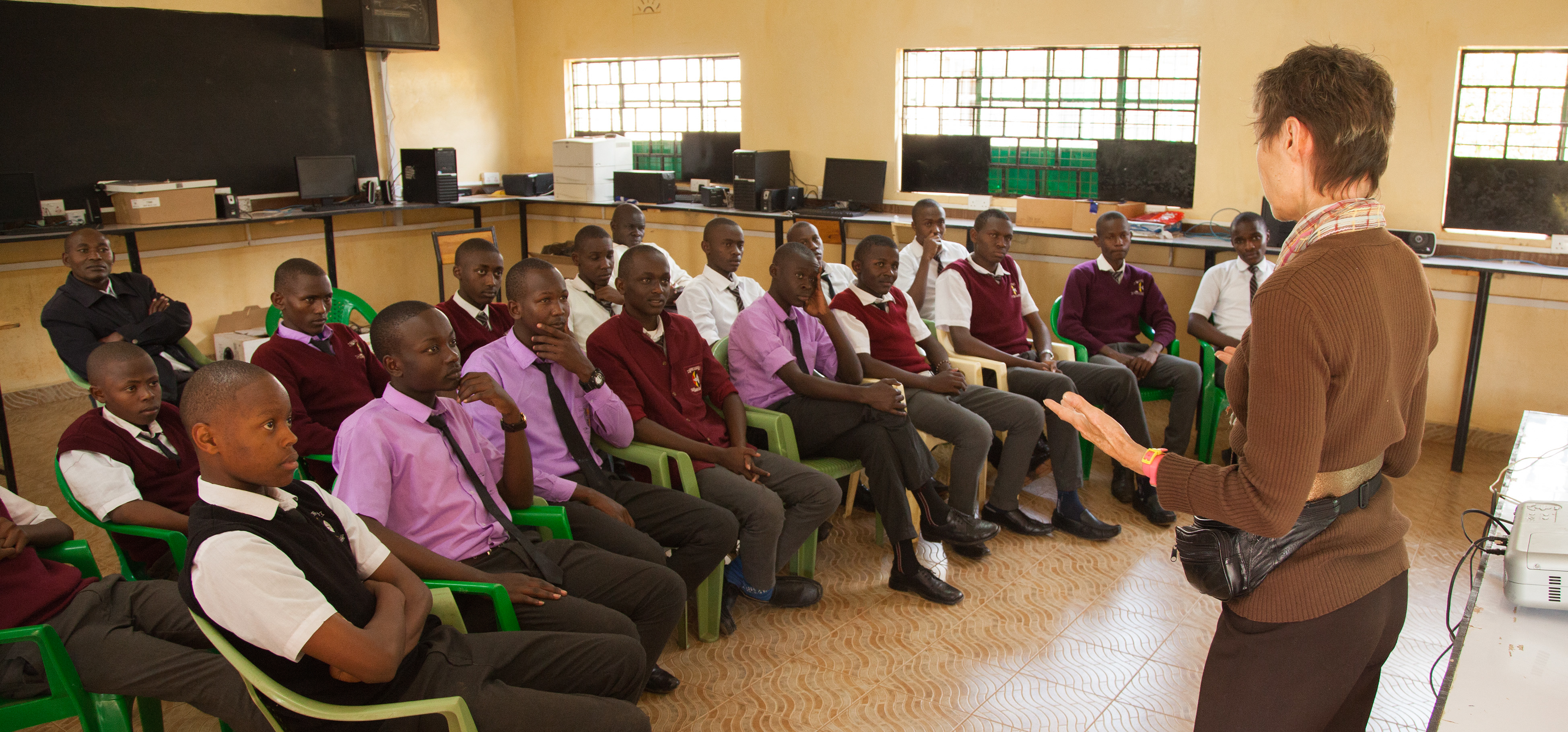 Technology Partnership Kenya classroom