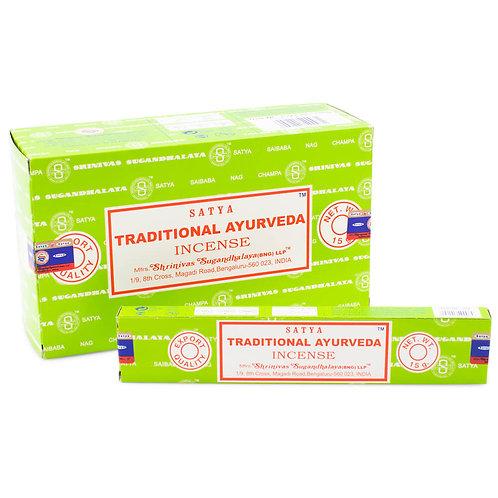 Satya Nag Champa Traditional Ayurveda Incense Sticks 15g