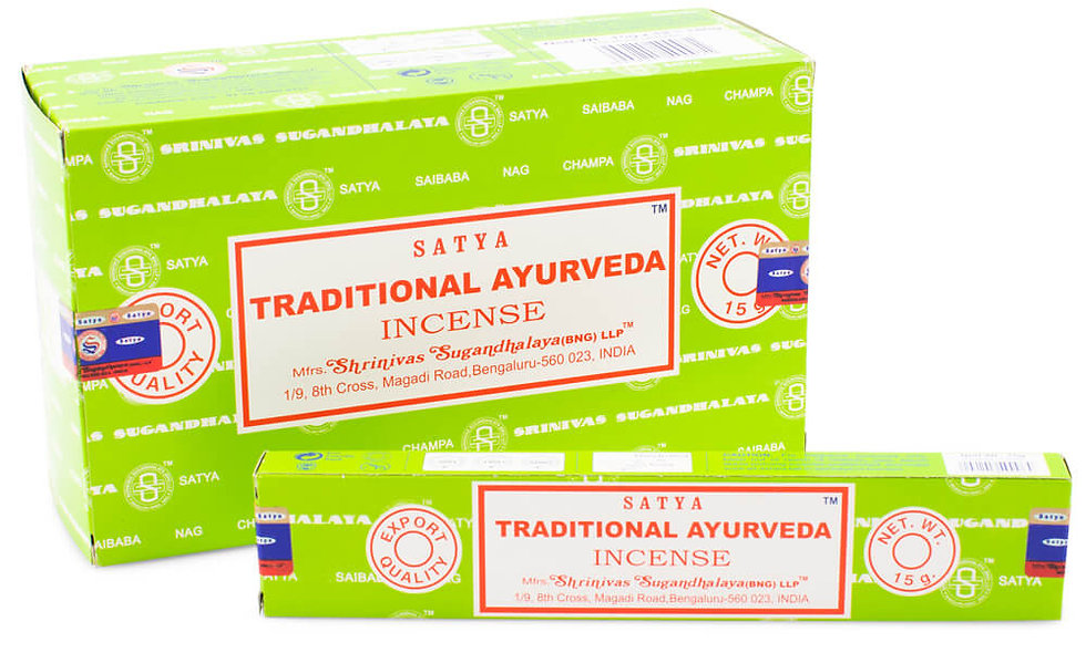 Satya Nag Champa Traditional Ayurveda Incense Sticks 15g