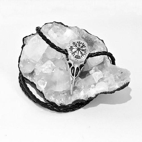 Bird Skull Vegvisir Necklace
