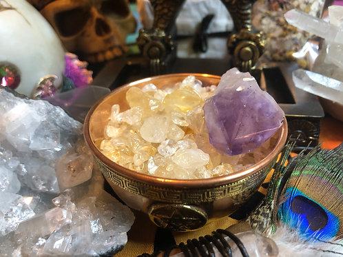Crystal Chip Stones Tumbles Citrine