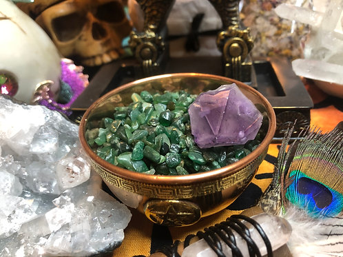 Crystal Chip Stones Tumbles Green Aventurine