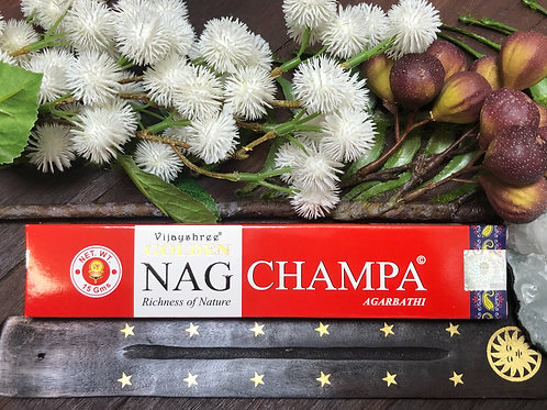 Golden Nag Champa Incense Sticks 15g