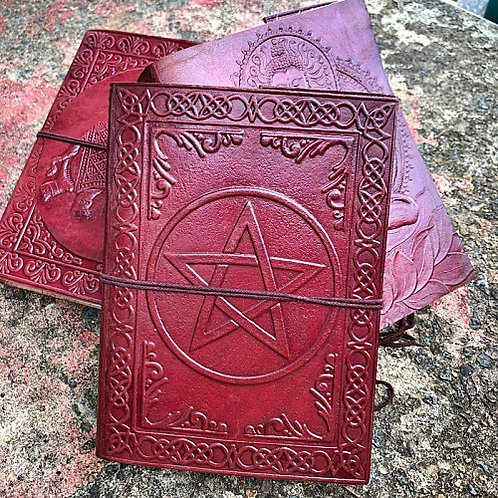 Pentagram Leather Journal Book of Shadows Grimoire