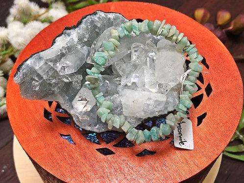 Amazonite Semiprecious Stone Chip Bracelet