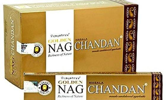 Golden Nag Champa Chandan Incense Sticks 15g