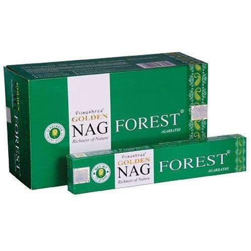 Golden Nag Champa Forest Incense Sticks 15g