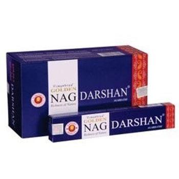 Golden Nag Champa Darshan Incense Sticks 15g