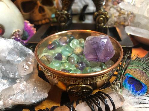 Crystal Chip Stones Tumbles Fluorite