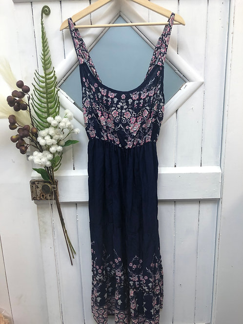 Boho Hippie Dress Long Blue