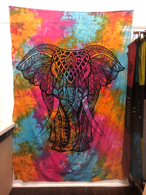 Elephant Ganesh Hippie Wall Hanging Tapestry
