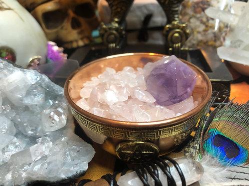Crystal Chip Stones Tumbles Rose Quartz