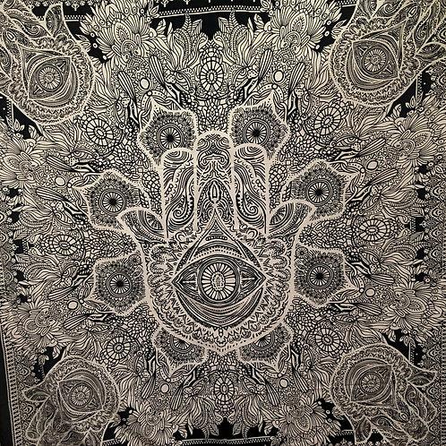 Hamsa Hippie Wall Hanging Tapestry