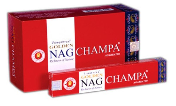 Golden Nag Champa Incense Sticks 15g