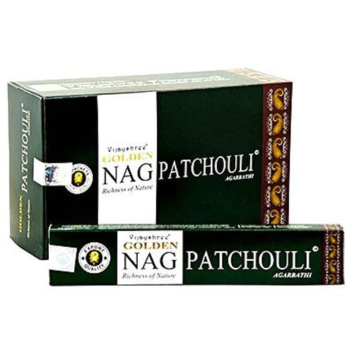 Golden Nag Champa Patchouli Incense Sticks 15g