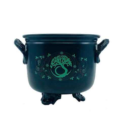 Cauldron Tree of Life Incense Holder Medium