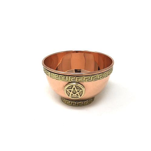 Copper Bowl Cauldron Pentagram