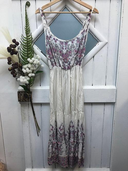 Boho Hippie Dress Long White