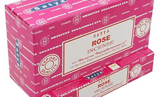 Satya Nag Champa Rose Incense Sticks 15g