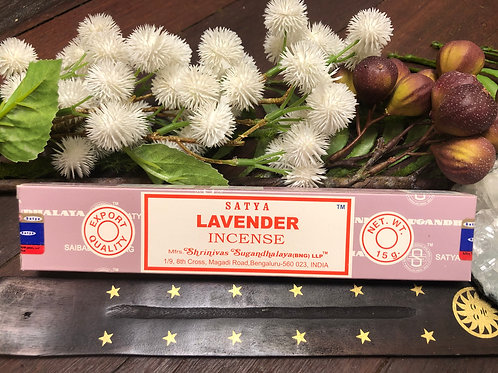 Satya Nag Champa Lavender Incense Sticks 15g