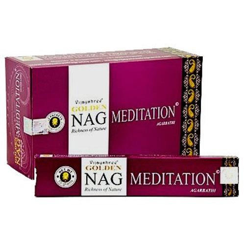 Golden Nag Champa Meditation Incense Sticks 15g