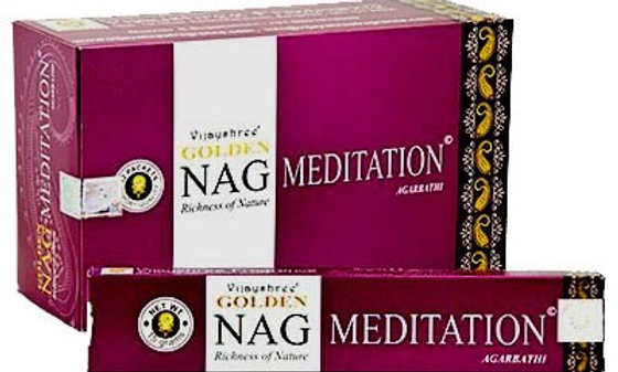 Golden Nag Champa Meditation Incense Sticks 15g