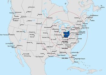 Darke County US Market Map