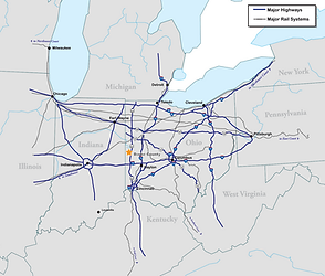 Darke Couny Transportation Map