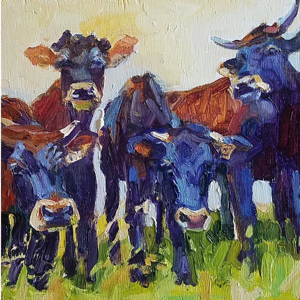 Endnagered Canadienne Cattle Painting