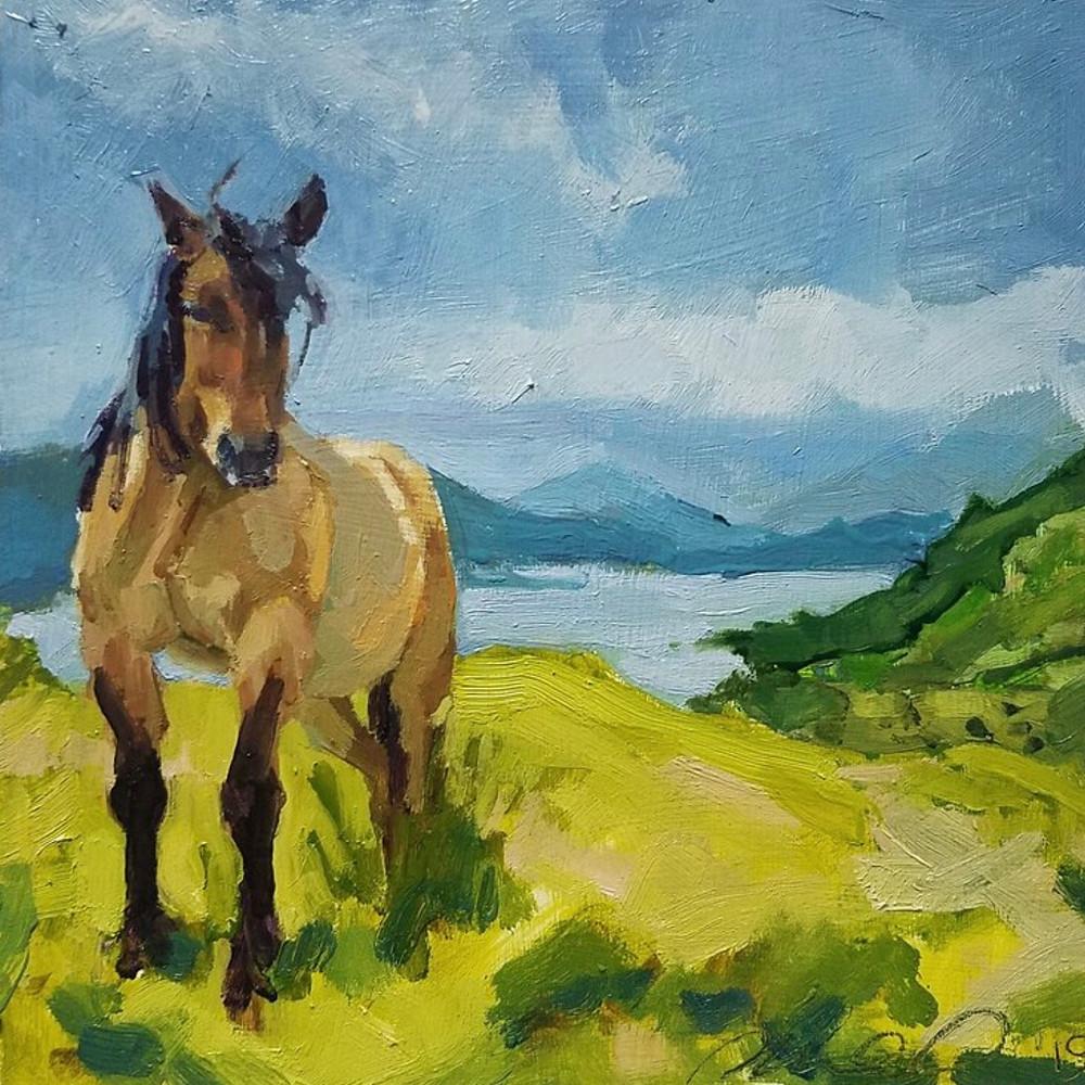 Endangered Highland Pony Painting