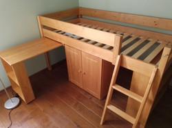 lit mezzanine avec bureau amovible