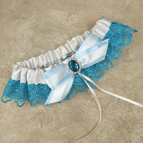 Подвязка арт. 10 Бирюзовый цвет