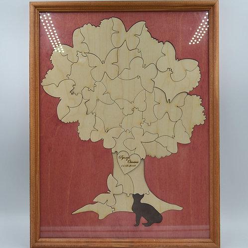 """Пазл пожеланий """"дерево в рамке"""""""
