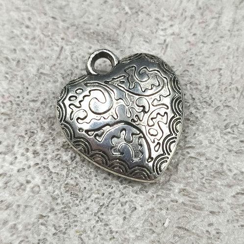 Кулон. Серебро. Сердце