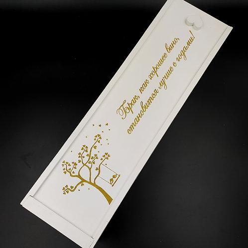 Коробка для вина. С сакурой
