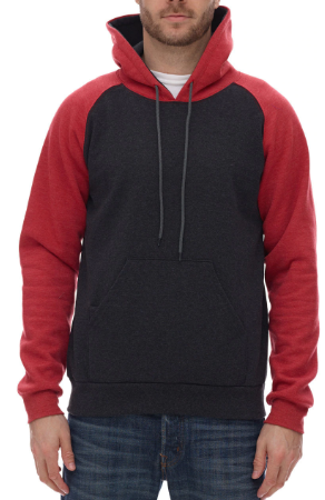 Ragland Hooded Fleece (RED/GREY/BLACK)