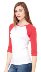 Bella Canvas 3/4 Sleeve (Women)