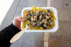 Homemade take away pasta | Best Venice street food