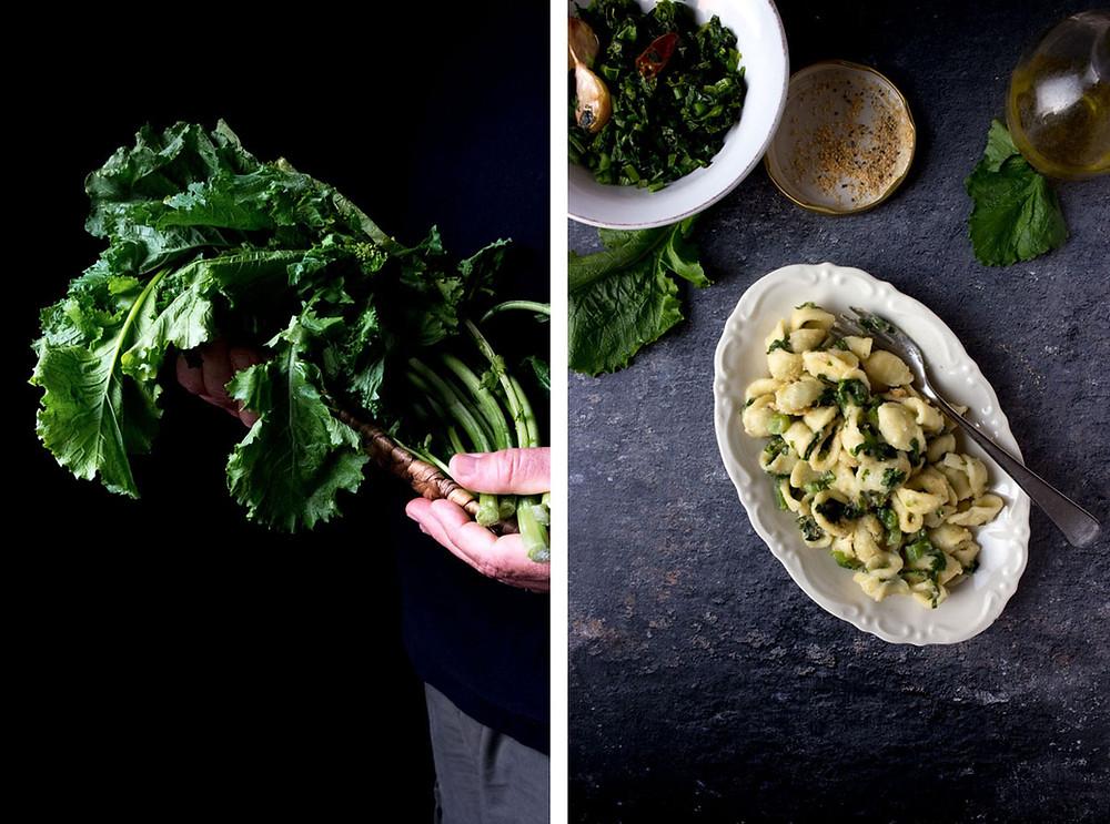 vegetarian pasta recipe   orecchiette with rapini recipe