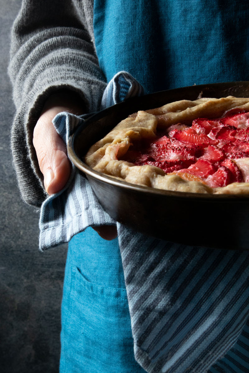 Rustic Fruit Tart with Peaches and Strawberries