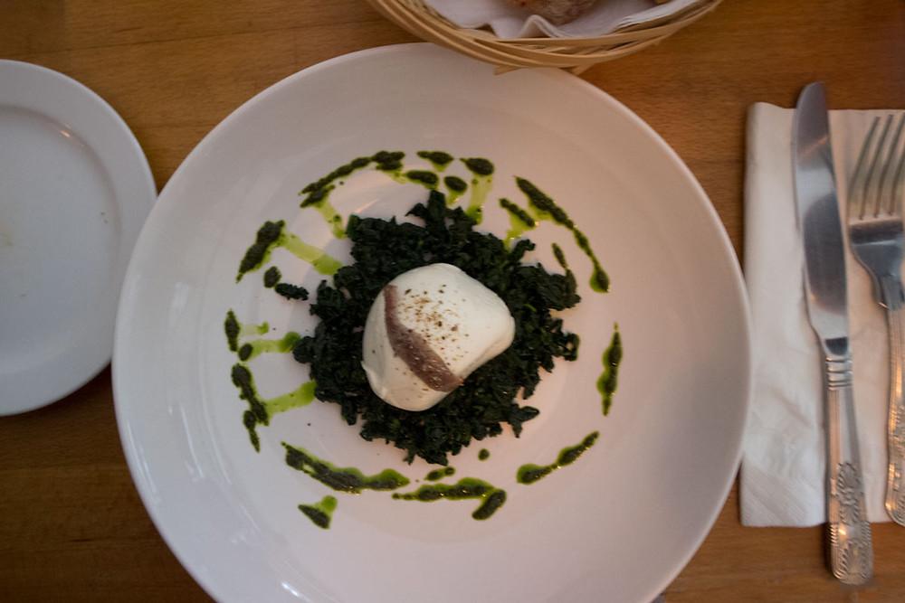 Mozzarella and Black Cabbage | Best Italian wine bar in Dublin city: Piglet