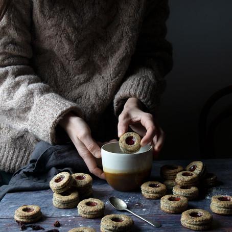 Rustic Vegan Spelt, Apple and poppy Seeds Cookies