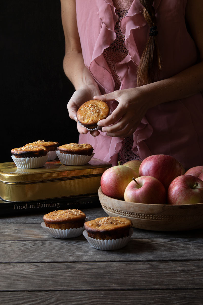 Gluten Free Apple and Hazelnut Muffins