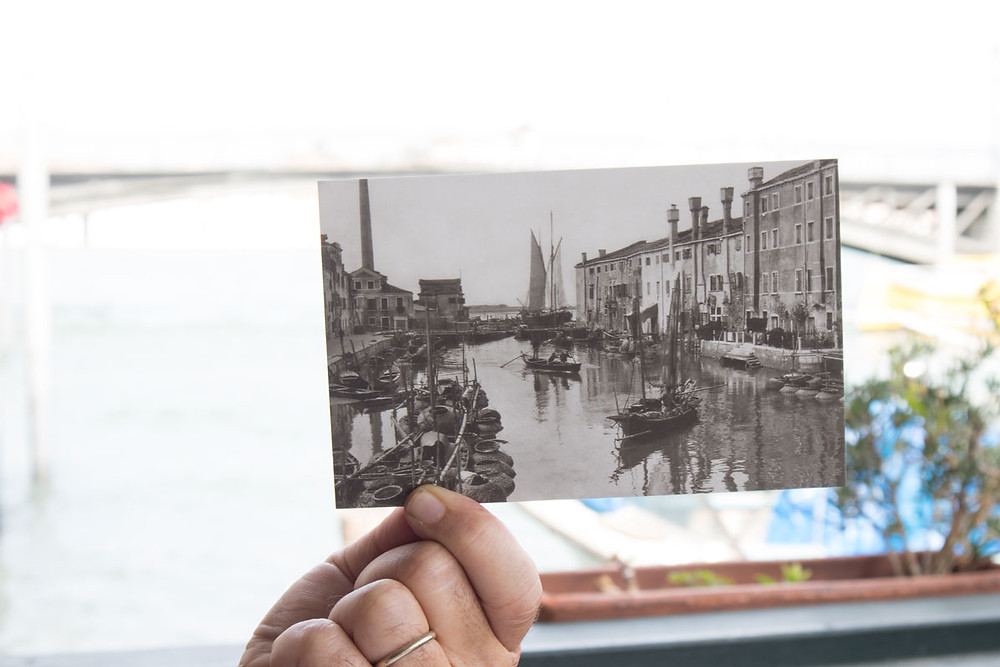 View from the Ponte Longo at the beginning of the 20th century