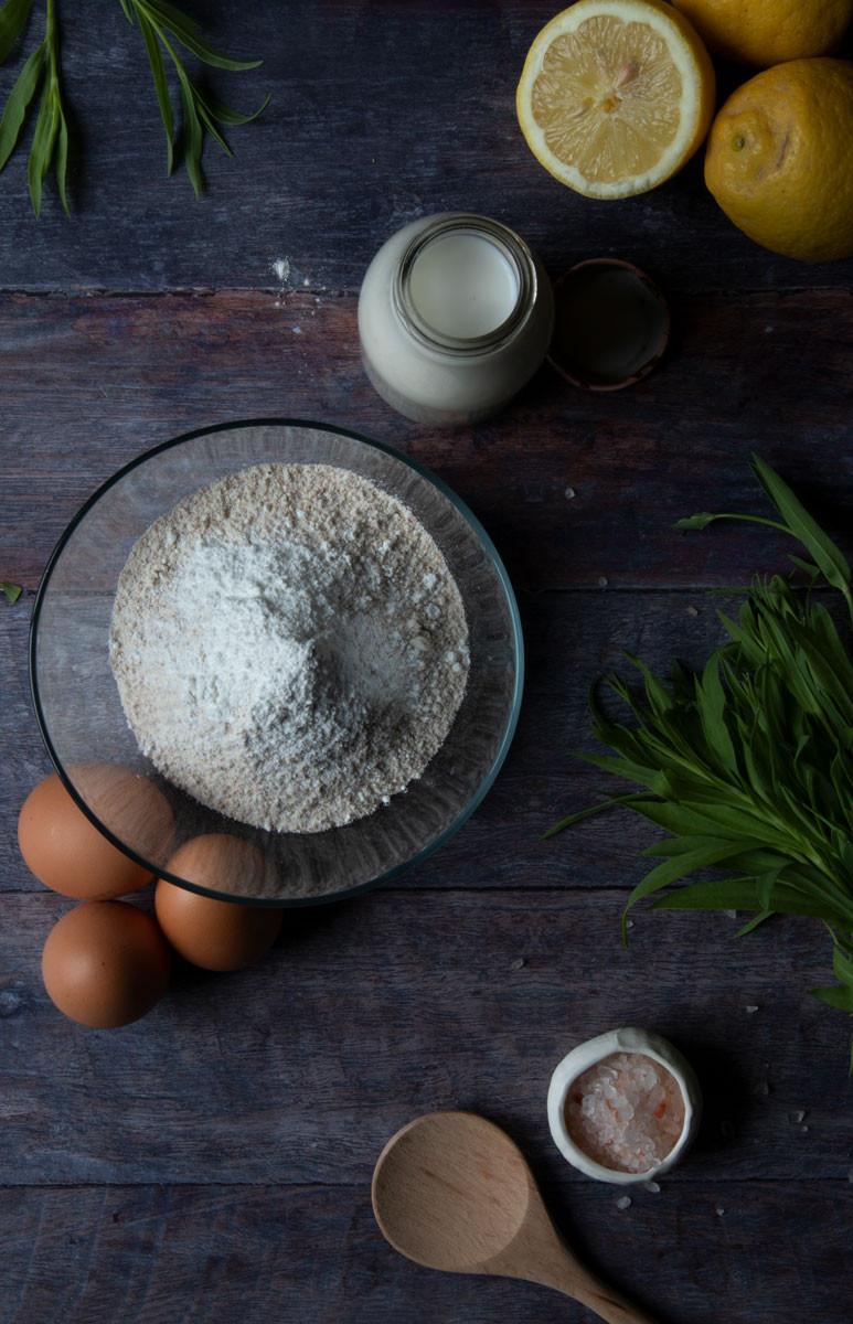 Savoury Pancakes with Spring Herbs