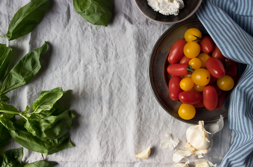 orecchiette with a tomato, ricotta, parmesan, anchovy and basil sauce