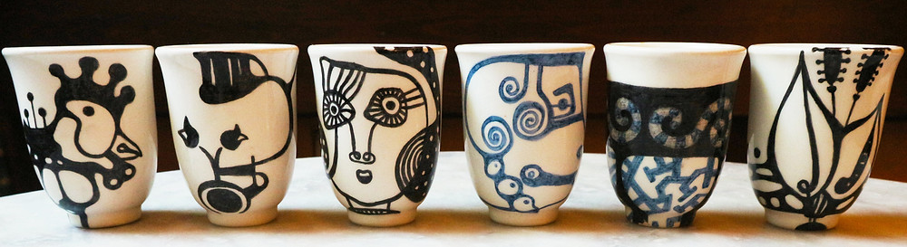 Handcrafted coffee cups