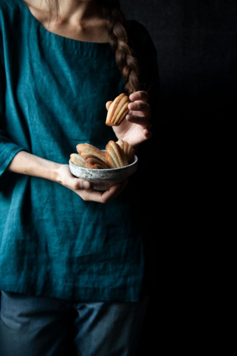 chestnut flour madeleines