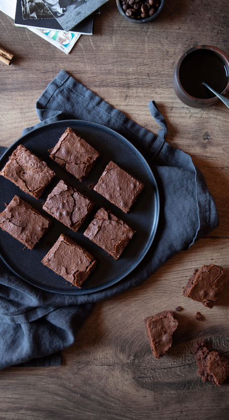 Chocolate and Cinnamon Scented Coffee Brownies